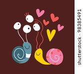 Snails In Love - stock photo