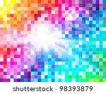 abstract spectrum mosaic | Shutterstock .eps vector #98393879