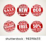 six shopping discount labels... | Shutterstock .eps vector #98398655