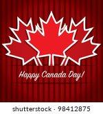 happy canada day card in vector ... | Shutterstock .eps vector #98412875