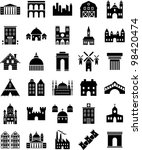 buildings icons | Shutterstock .eps vector #98420474