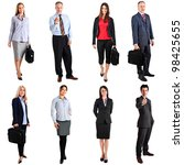 collection of business people... | Shutterstock . vector #98425655