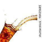 pouring cola into glass ... | Shutterstock . vector #98425685