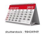 2013 Year Calendar. January....