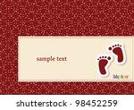 vector announcement card for... | Shutterstock .eps vector #98452259