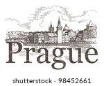 Panorama Of Prague. View Of...
