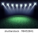 sports arena spotlights and... | Shutterstock . vector #98452841