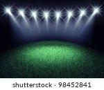 sports arena spotlights and... | Shutterstock . vector #98452841