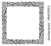 ornamental frame  hand drawing... | Shutterstock .eps vector #98453951