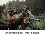 soldiers snipers attack the... | Shutterstock . vector #98455505