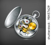 mechanical clock  vector | Shutterstock .eps vector #98457629