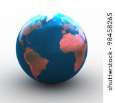 3d render of planet earth over... | Shutterstock . vector #98458265