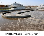 water treatment plant on sunny... | Shutterstock . vector #98472704