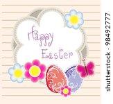 easter holiday vector background | Shutterstock .eps vector #98492777