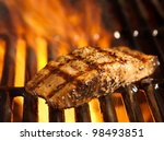 Salmon Fillet On The Grill Wit...