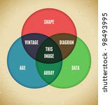 infographics with intersecting... | Shutterstock .eps vector #98493995