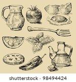 vector vintage hand drawn of... | Shutterstock .eps vector #98494424