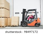 warehouse worker driver in