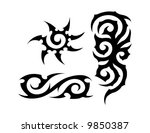 tribal tattoo | Shutterstock .eps vector #9850387