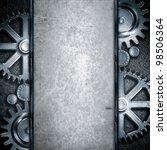 metallic gears background | Shutterstock . vector #98506364