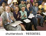 congregation clapping at church | Shutterstock . vector #98508581