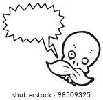 mustache skull cartoon | Shutterstock . vector #98509325