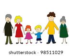 illustration of mother  father ... | Shutterstock . vector #98511029