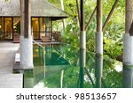 luxury villa with private... | Shutterstock . vector #98513657