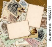 vintage background of the old... | Shutterstock . vector #98532374