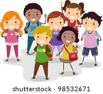 illustration of a group of... | Shutterstock .eps vector #98532671