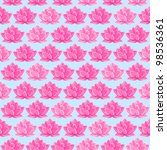 Pink Lotus Flower Seamless...