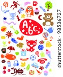 cute colorful different elements | Shutterstock .eps vector #98536727