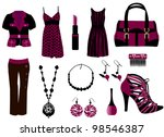 fashion bags | Shutterstock .eps vector #98546387