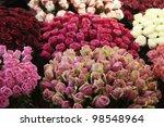Street Flower Market. Differen...