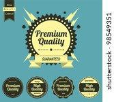 vintage high quality labels set | Shutterstock . vector #98549351