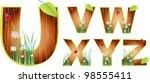vector wood abc eps 10   Shutterstock .eps vector #98555411