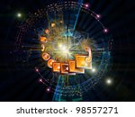 interplay of communication... | Shutterstock . vector #98557271