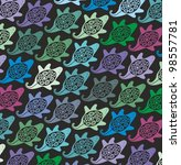 vector pattern with stylized... | Shutterstock .eps vector #98557781