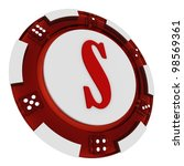 poker chip font. 3d rendered... | Shutterstock . vector #98569361