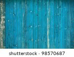 Old Dirty Blue Wooden Wall