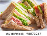 sandwich with bacon   chicken ... | Shutterstock . vector #98573267
