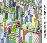 illustration of a modern city... | Shutterstock .eps vector #98585609