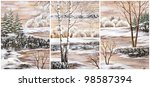 Pictures  Set Winter Natural...