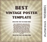 vintage poster template | Shutterstock .eps vector #98588801