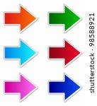glossy arrows | Shutterstock .eps vector #98588921