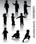 silhouette of child illustration | Shutterstock . vector #9858895