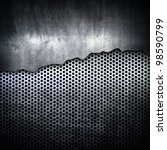 cracked metal plate | Shutterstock . vector #98590799