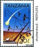 tanzania   circa 1992  a stamp... | Shutterstock . vector #98591351