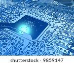 super chip - stock photo