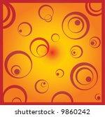 cirles  gazing from the heart... | Shutterstock .eps vector #9860242